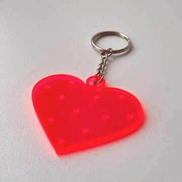 Schlüsselanhänger Plxeiglas Neonherz