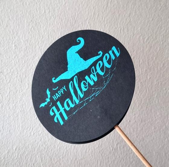 Halloween Spooky Happy Halloween Tuerkis